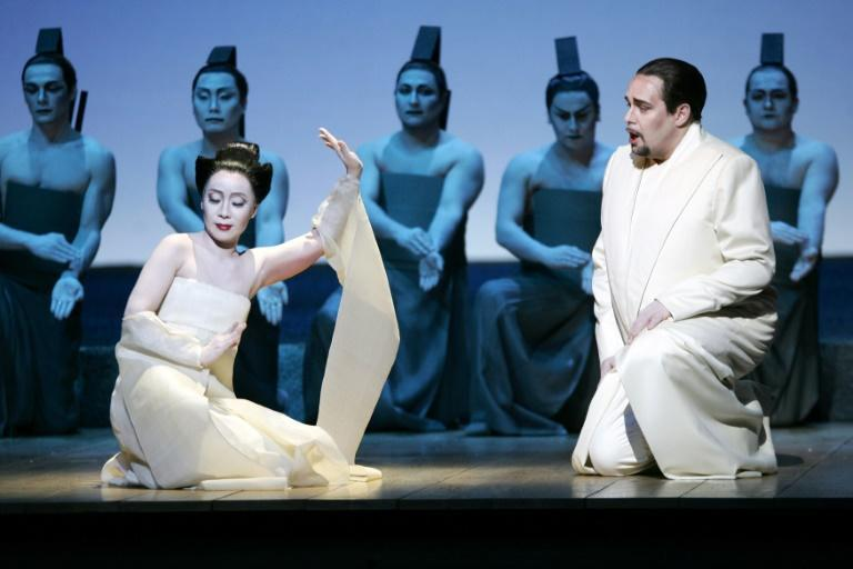 """Wilson's staging of Puccini's """"Madame Butterfly"""" at Opera Bastille in 2016 (AFP/PIERRE VERDY)"""