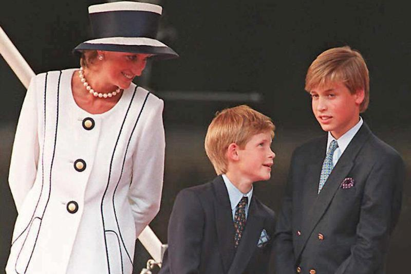 Princess Diana with her two sons Harry and William in 1995, two years before she died: AFP/Getty Images