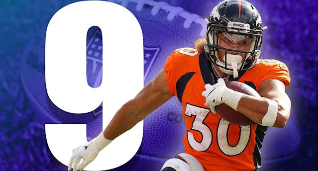<p>Phillip Lindsay is the first undrafted player in NFL history with more than 100 yards from scrimmage in each of his first two games. (Phillip Lindsay) </p>