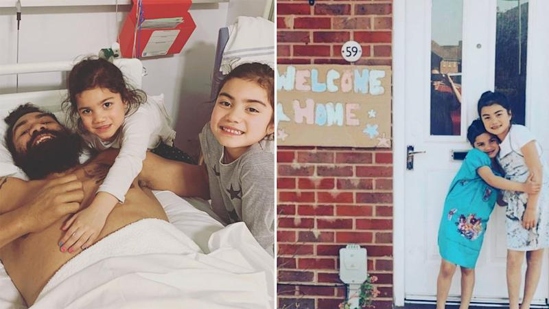 Mose Masoe's kids organised a lovely welcome home surprise for the rugby league player.
