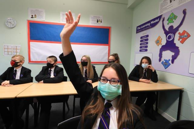 Children return to the classroom at Outwood Academy in Woodlands, Doncaster
