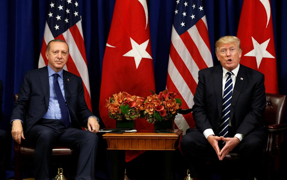 President Trump meets with President Recep Tayyip Erdogan of Turkey during the U.N. General Assembly in New York on Sept. 21, 2017. (Photo: Reuters/Kevin Lamarque