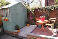 """<p>The easiest way to spruce up your garden is to brighten things up with some colour. From vibrant bunting, to statement plant pots, you really can't go wrong. <a href=""""https://www.swoonworthy.co.uk/2012/04/before-and-after-weekend-back-garden-blitz-part-iii-the-reveal.html/"""" rel=""""nofollow noopener"""" target=""""_blank"""" data-ylk=""""slk:[Photo: Swoonworthy]"""" class=""""link rapid-noclick-resp"""">[Photo: Swoonworthy]</a> </p>"""