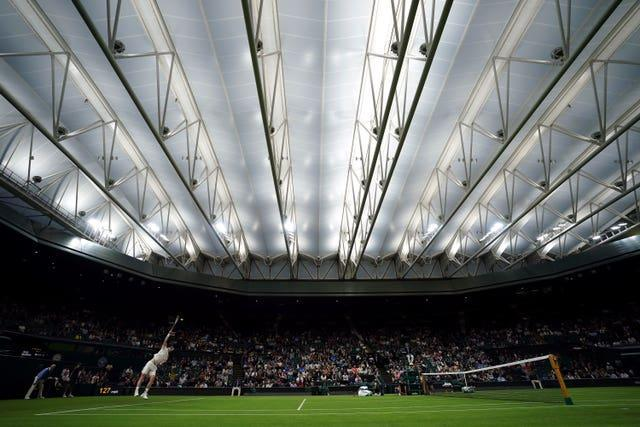 The match was finished under the Centre Court roof