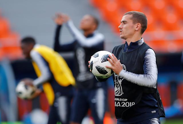 Soccer Football - World Cup - France Training - Ekaterinburg Arena, Yekaterinburg, Russia - June 20, 2018 France's Antoine Griezmann during training REUTERS/Andrew Couldridge