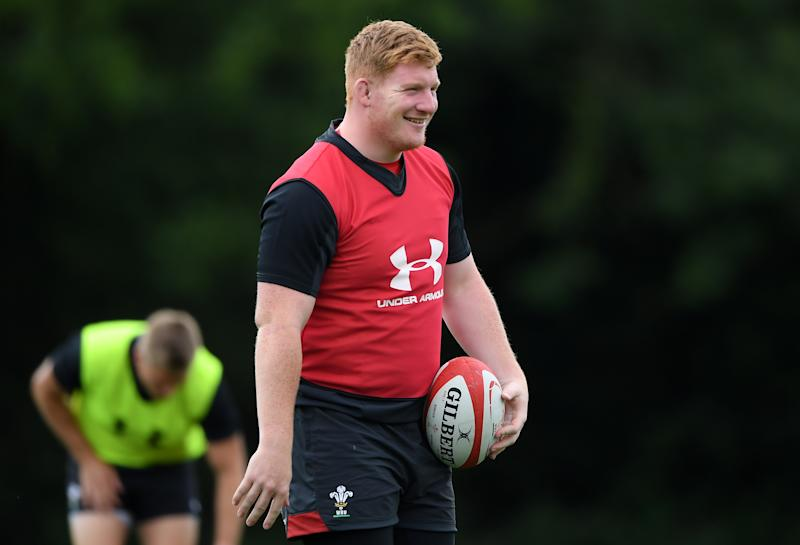 CARDIFF, WALES - JULY 06: Rhys Carre of Wales during the Wales training session held at the Vale Resort on July 06, 2019 in Cardiff, Wales. (Photo by Alex Davidson/Getty Images)