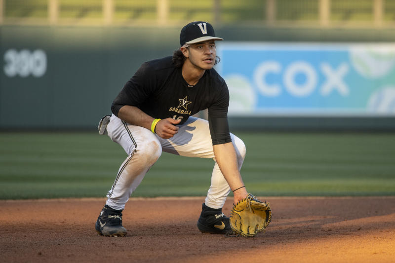 Vanderbilt's Austin Martin is poised to join a loaded Blue Jays infield. (Photo by Jennifer Stewart/MLB Photos via Getty Images)
