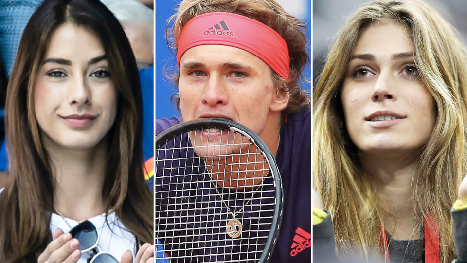 Brenda Patea, Alexander Zverev and Olga Sharypova, pictured here in the tennis world.