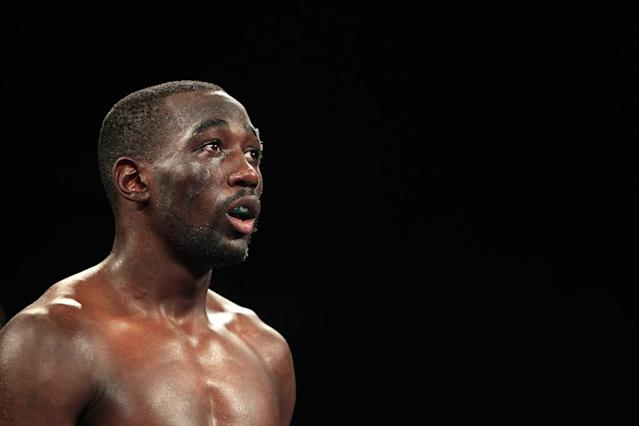 American Terence Crawford (pictured) became the first undisputed boxing champion in over a decade by knocking out previously unbeaten Julius Indongo in the third round of their super lightweight fight, in Lincoln, Nebraska, on August 19, 2017 (AFP Photo/Steve Marcus)