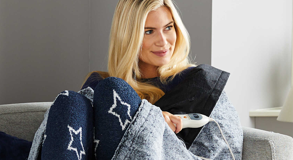 Aldi is selling a easy home heated throw for only £34.99 [Photo: Aldi]