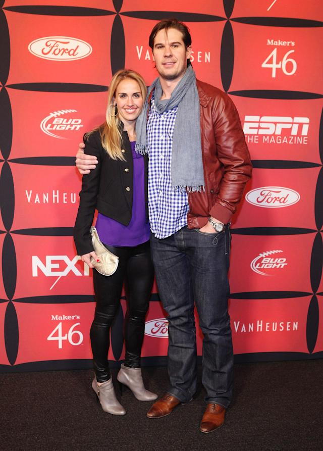 "INDIANAPOLIS, IN - FEBRUARY 03: Professional soccer player Heather Mitts and professional football player A.J. Feeley attend ESPN The Magazine's ""NEXT"" Event on February 3, 2012 in Indianapolis, Indiana. (Photo by Robin Marchant/Getty Images for ESPN)"