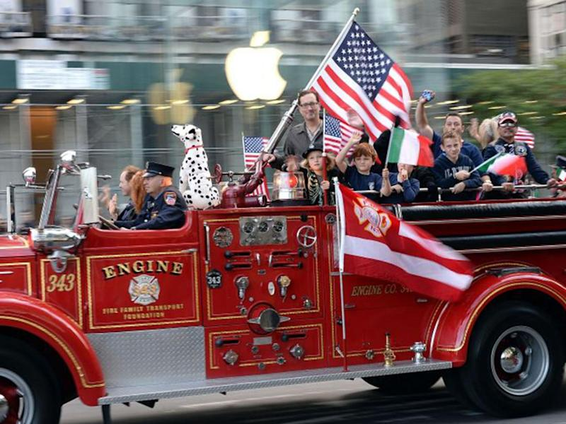 The annual Columbus Day Parade proceeds down New York City's Fifth Avenue (Getty)
