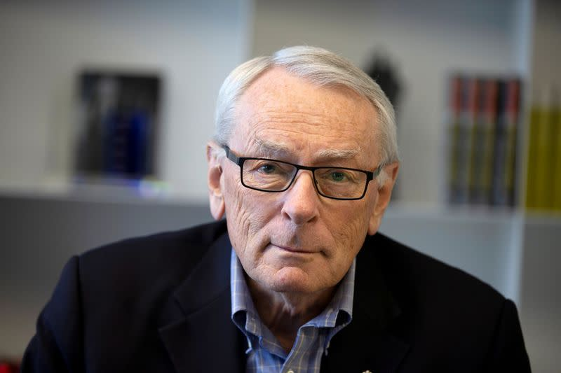 FILE PHOTO: International Olympic Committee (IOC) member Dick Pound poses in his offices in Montreal