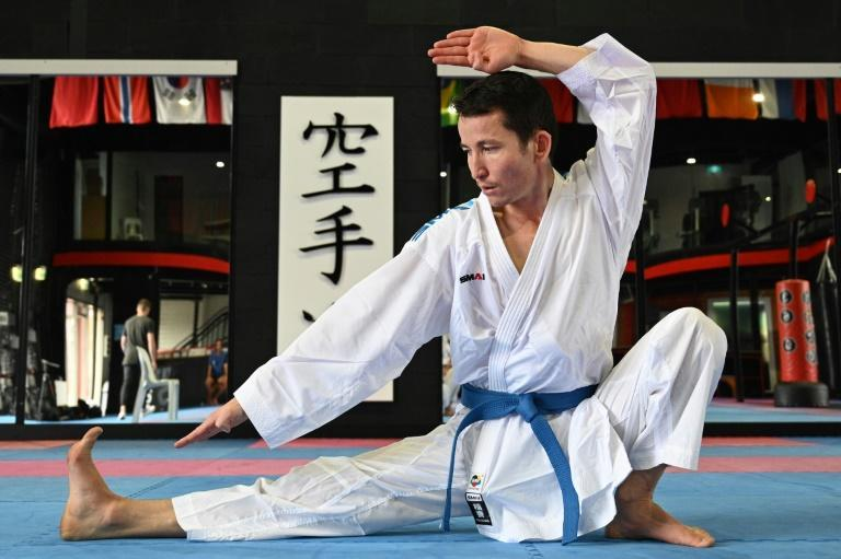 Afghan-born refugee and karate competitor Asif Sultani training on the outskirts of Sydney as he competes for a place on the Refugee Olympic Team at the Tokyo Olympics