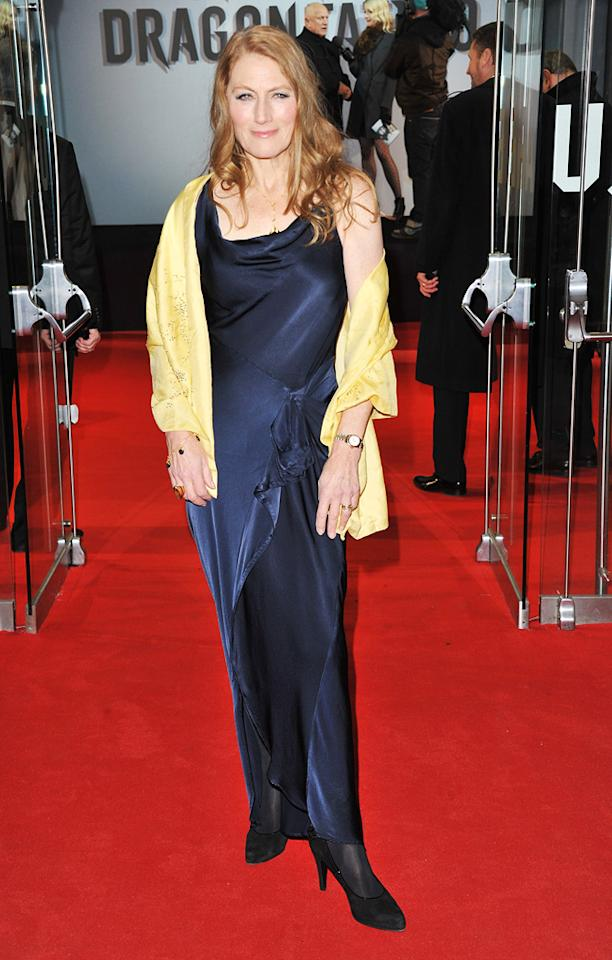 "<a href=""http://movies.yahoo.com/movie/contributor/1800124589"">Geraldine James</a> at the London premiere of <a href=""http://movies.yahoo.com/movie/1810163569/info"">The Girl With the Dragon Tattoo</a> on December 12, 2011."