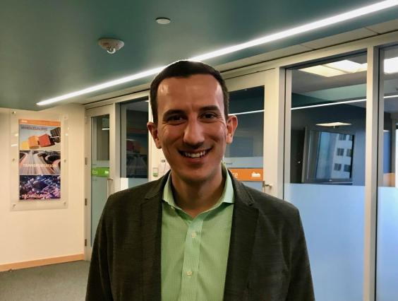 Shkëlqim Kelmendi of Housing Connector, works to build trust with Seattle's private landlords (Andrew Buncombe )