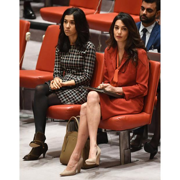 Amal Clooney and her client Nadia Murad