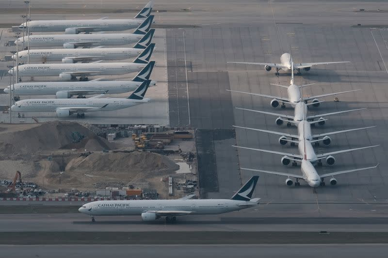 Cathay forecasts weak passenger demand but stronger cargo after record loss