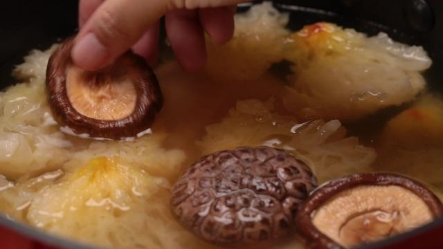 Adding mushrooms to chicken soup