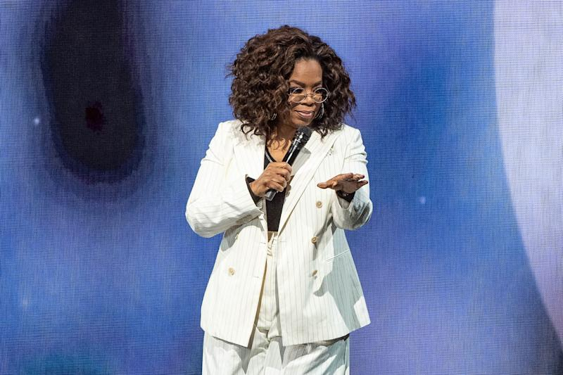 Oprah speaks onstage during 'Oprah's 2020 Vision: Your Life in Focus Tour' presented by WW (Weight Watchers Reimagined) at The Forum on February 29, 2020 in Inglewood, California.
