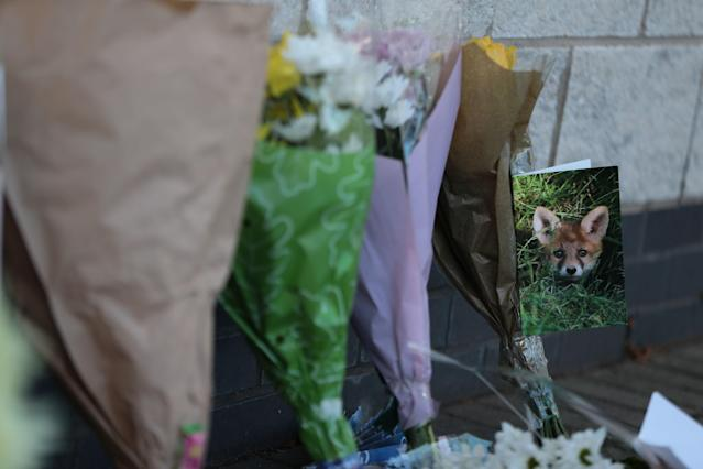 <p>Tributes to the Leicester City owner. Aaron Chown/PA Wire </p>