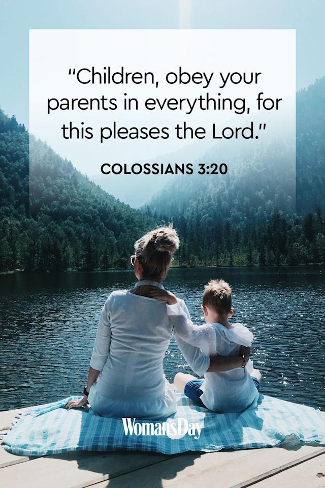"<p>""Children, obey your parents in everything, for this pleases the Lord.""</p><p><strong>The Good News: </strong>The Lord doesn't ask much of children, but he does ask that they listen to their parents, just as his son listened to him. Then, they will succeed in all things.<strong></strong></p>"