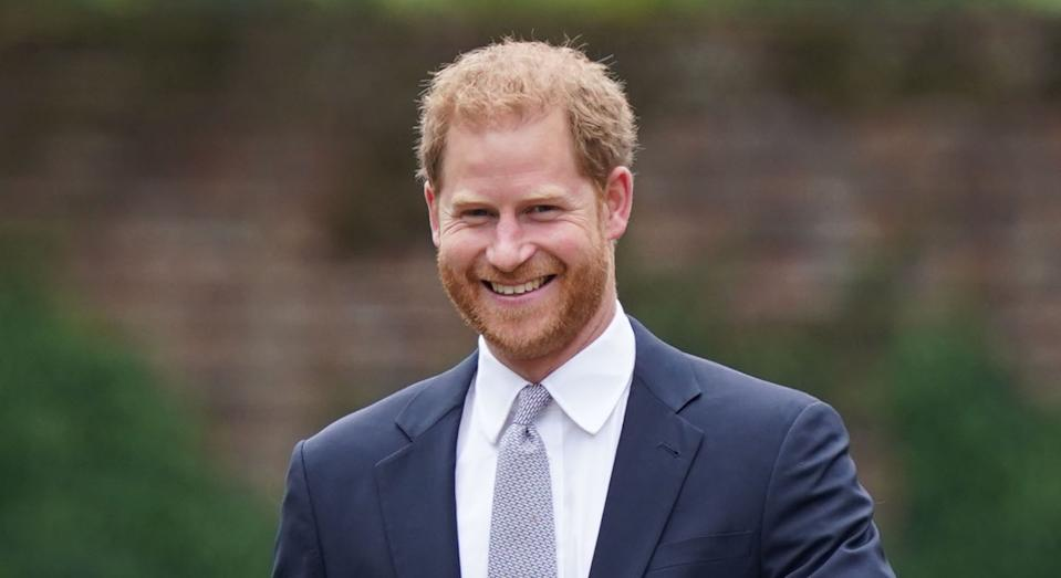 The Duke of Cambridge and Duke of Sussex arrive for the unveiling of a statue they commissioned of their mother Diana, Princess of Wales in the Sunken Garden at Kensington Palace, London, on what would have been her 60th birthday. Picture date: Thursday July 1, 2021.
