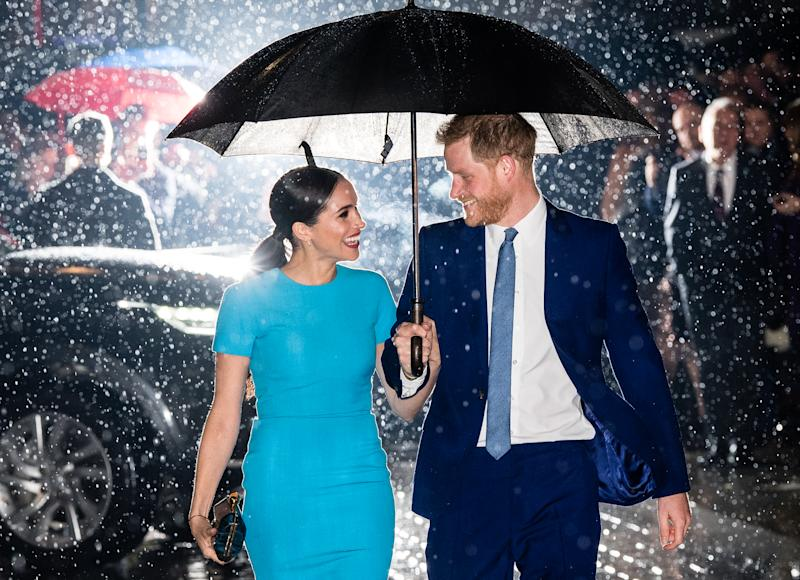 Prince Harry and Meghan attended The Endeavour Fund Awards in London. Photo: Getty Images