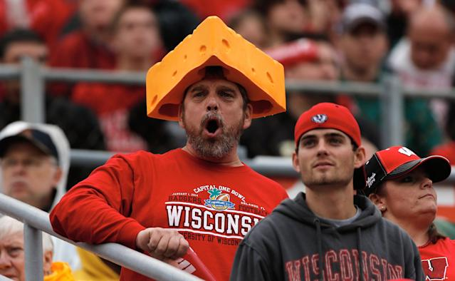 ORLANDO, FL - JANUARY 01: Wisconsin Badgers fans watch the action in the second half against the South Carolina Gamecocks during the Capital One Bowl on January 1, 2014 in Orlando, Florida. (Photo by Scott Halleran/Getty Images)