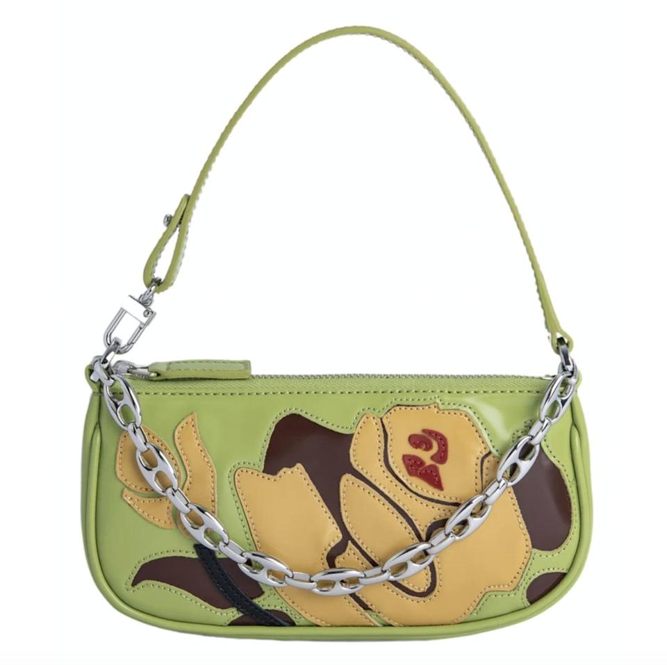 """<p><span>By Far x Vestiaire Collective Upcycled Bag</span> ($608) </p> <p>""""By Far launched a Future Collectibles collection with Vestiaire Collective to encourage shoppers to wear repurposed accessories, rather than buying new ones. The team upcycled their bags and now they're all one-of-a-kind. The lime green shoulder bag is at the top of my list."""" - SW</p>"""