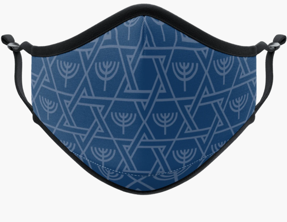 Hanukkah Face Mask. Image via Vistaprint.