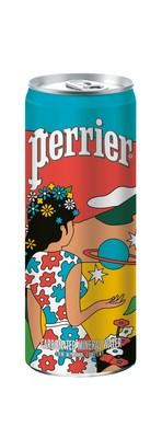 The new Perrier ARTXTRA limited-edition artist packaging, featuring the bold and colorful work of Los Angeles-based visual artist duo DABSMYLA.