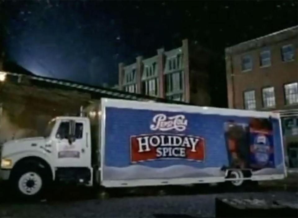 pepsi holiday spice truck from commercial