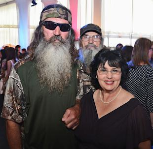 Phil Robertson and Miss Kay Robertson attend A&E Networks 2012 Upfront at Lincoln Center on May 9, 2012 in New York City.