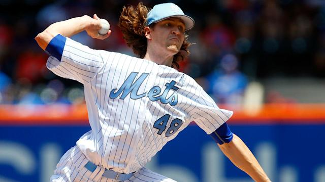 The New York Mets earned a walk-off win Wednesday but once again gave Jacob deGrom no help.