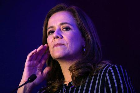Margarita Zavala, lawyer and member of National Action Party (PAN), gestures during Forbes Forum 2017 in Mexico City