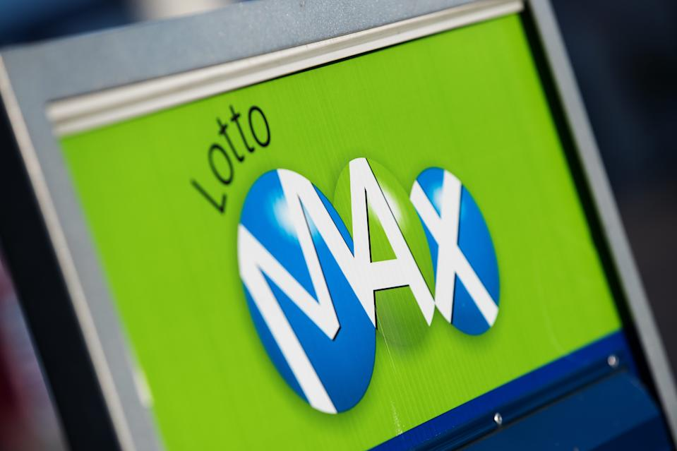 Lotto Max display in Joyceville, Ont. THE CANADIAN PRESS IMAGES/Lars Hagberg