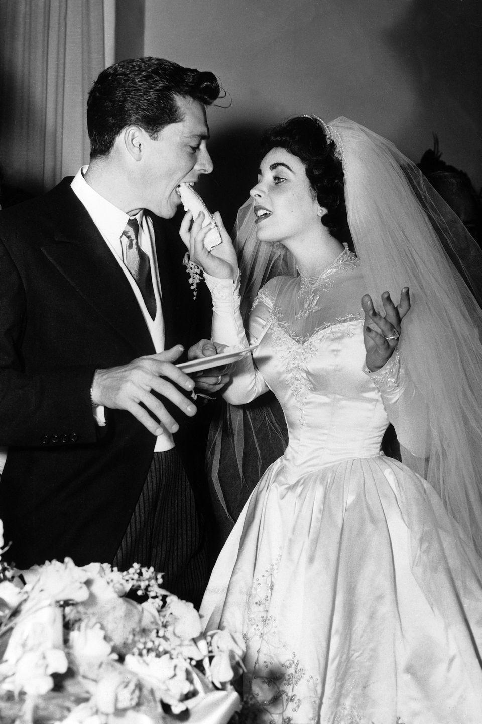 <p>Elizabeth Taylor threw an extravagant affair for her first wedding to Conrad Hilton, which was entirely paid for by MGM studio (and coincidentally happened around the time of the release of her latest movie,<em> Father of the Bride)</em>. Following a church service at Church of The Good Shepherd in Beverly Hills, the couple held a reception with a guest list made up of Hollywood's biggest stars—from Fred Astaire to Ginger Rogers. </p><p>Unfortunately, the marriage wasn't as big of a success as Taylor's film (which was followed by a sequel, <em>Father's Little Dividend</em>) and the couple divorced in 1952. </p>