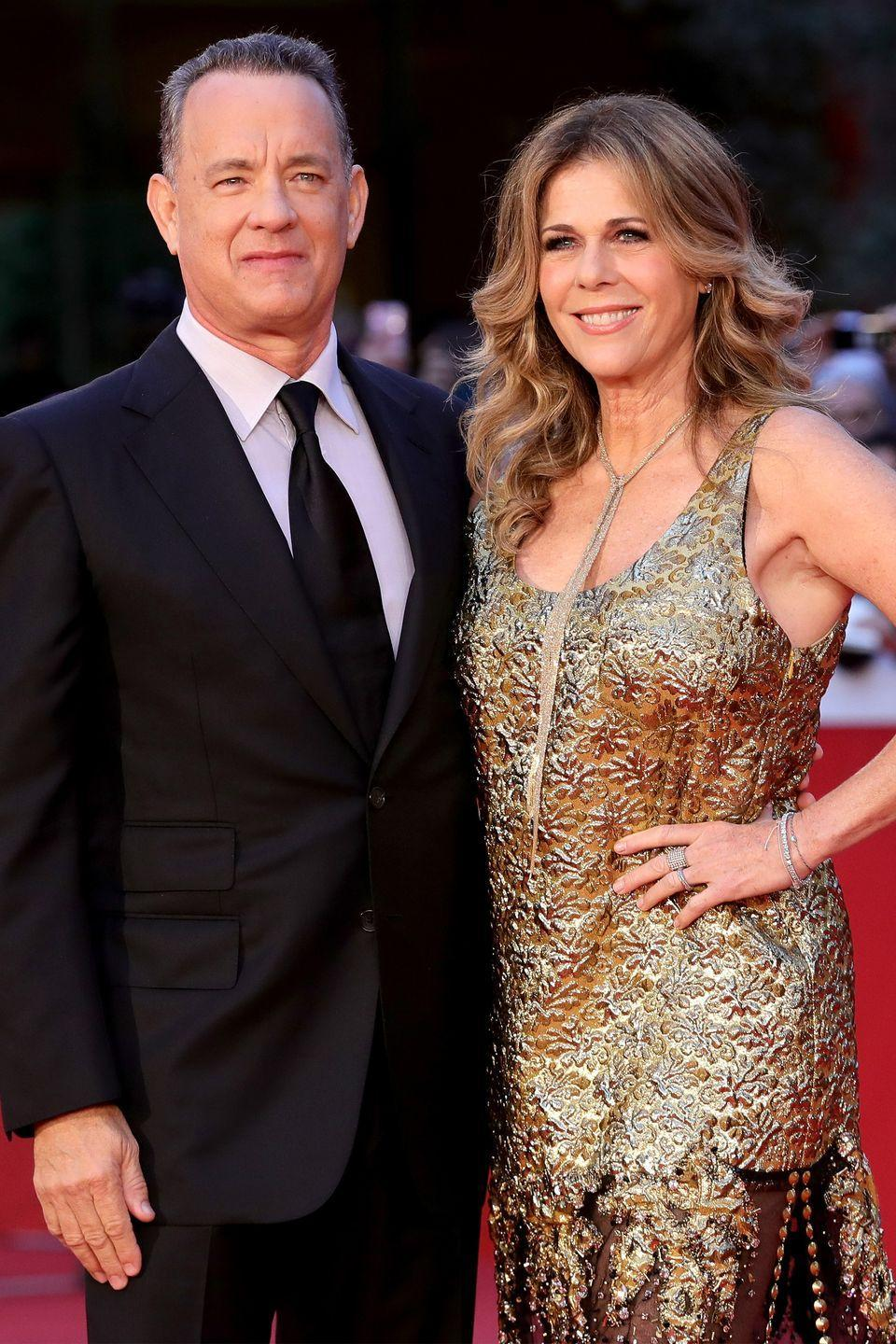 "<p>If Tom Hanks and Rita Wilson didn't fall in love, Hanks might not have won an Oscar for <em>Forest Gump</em>. ""I view my wife as my lover, and we have a bond that goes beyond words like wife or girlfriend or mother,"" Hanks told <a href=""http://www.oprah.com/omagazine/oprah-interviews-tom-hanks/all"" rel=""nofollow noopener"" target=""_blank"" data-ylk=""slk:Oprah Winfrey"" class=""link rapid-noclick-resp"">Oprah Winfrey </a>in 2001. ""Without my connection with Rita, I don't know how I would've been able to connect with what Forrest was going through.""</p><p>The couple has been married for <a href=""https://people.com/movies/tom-hanks-rita-wilson-love-story/"" rel=""nofollow noopener"" target=""_blank"" data-ylk=""slk:over 30 years"" class=""link rapid-noclick-resp"">over 30 years</a>, and certainly embody #couplegoals with their low-key relationship.</p>"