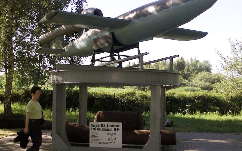 A German V-1 flying bomb at a museum in Peenemuende - Reuters