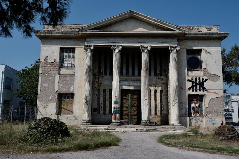 An abandoned building on the grounds of the Athens Art School (AFP Photo/LOUISA GOULIAMAKI)