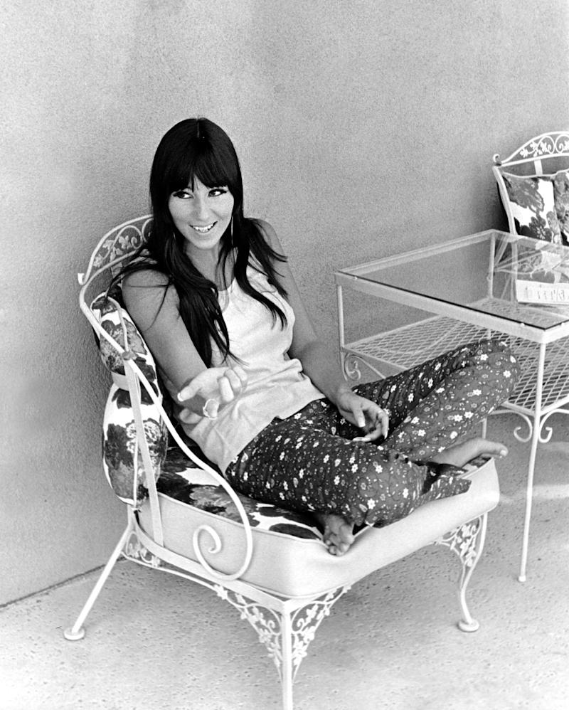 LOS ANGELES - AUGUST 1966: Entertainer Cher poses for a portrait session at home in August 1966 in Los Angeles, California. (Photo by Michael Ochs Archives/Getty Images)