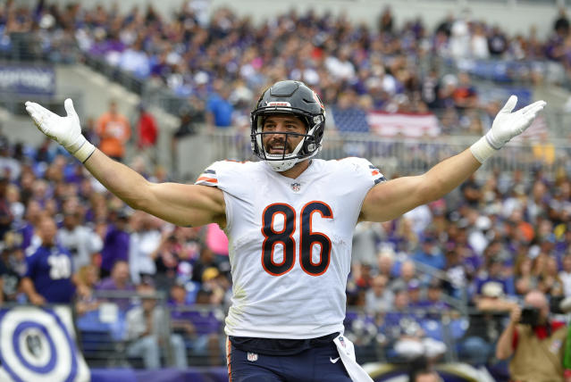 Zach Miller will sign a one-year deal with the Bears. (AP file photo)