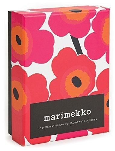 """<h2>Marimekko Notecards<br></h2><br>A notecard set from everyone's favorite heritage textile house will please fashion lovers and vintage nerds alike.<br><br><strong>Marimekko</strong> Marimekko Notes, $, available at <a href=""""https://www.amazon.com/dp/B017PNQECM"""" rel=""""nofollow noopener"""" target=""""_blank"""" data-ylk=""""slk:Amazon"""" class=""""link rapid-noclick-resp"""">Amazon</a>"""
