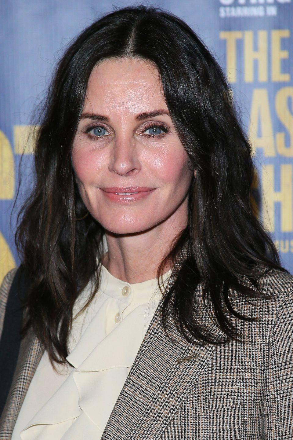 "<p>After having her fillers dissolved in 2017, Courtney Cox has learned to accept the ageing process. ""Things are going to change,"" <a href=""https://www.harpersbazaar.com/uk/beauty/skincare/news/a42256/courteney-cox-cosmetic-surgery-fillers/"" rel=""nofollow noopener"" target=""_blank"" data-ylk=""slk:she said"" class=""link rapid-noclick-resp"">she said</a>. ""I was trying to make [my face] not drop, but that made me look fake. I've had to learn to embrace movement and realise that fillers are not my friend.""</p>"