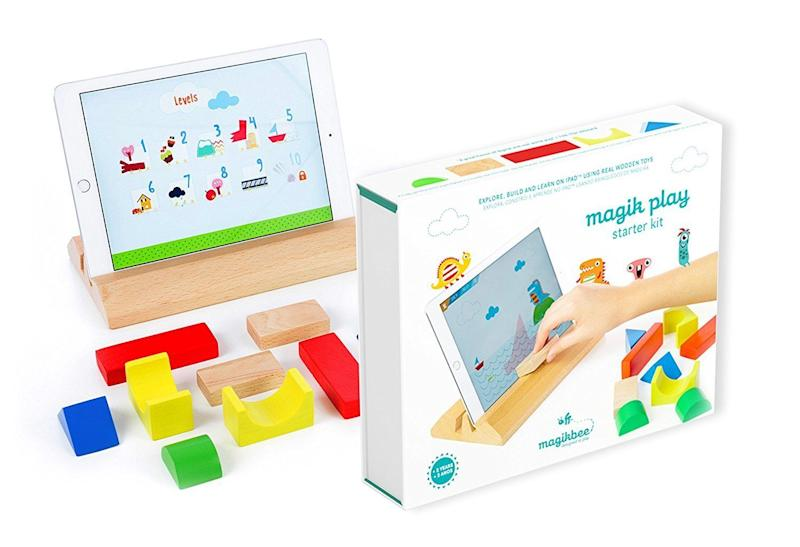 "Not only does this <a href=""https://www.amazon.com/Magik-Play-iPad-Learning-Games/dp/B01LDB7SH2"" target=""_blank"">starter kit</a> get your kid thinking creatively, but it helps with spatial reasoning according to Purdue."
