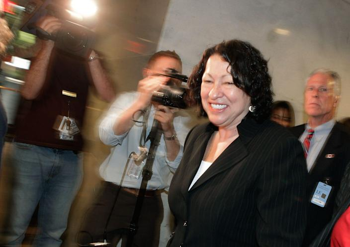 Supreme Court Justice Sonia Sotomayor during her confirmation in 2009.