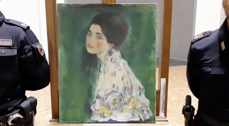 Police think stolen Klimt masterpiece found hidden behind ivy