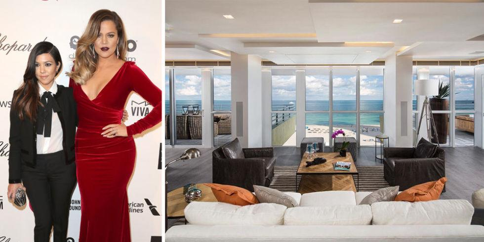 "<p>The penthouse in Miami Beach where Kourtney and Khloe Kardashian stayed while ""taking"" the city of Miami went up for sale in early 2016 for $5.9 million, according to the <a rel=""nofollow"" href=""http://www.wsj.com/articles/kourtney-and-khloe-kardashians-miami-beach-hangout-for-sale-1452186036"">Wall Street Journal</a>. The two-bedroom apartment sits on the 10th floor of the Hilton Bentley Miami/South Beach hotel<span> and features sweeping views of the ocean and a private roof deck.</span></p>"