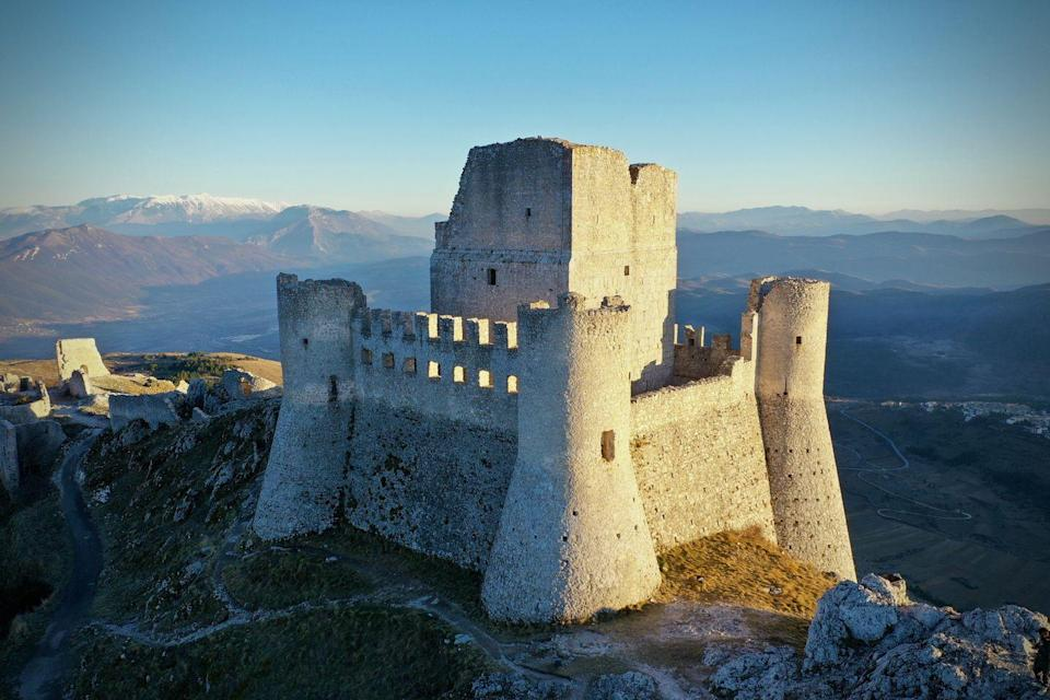 <p>This 10th-century fortress sits atop the Province of L'Aquila in Abruzzo, Italy, and has views for days.</p>